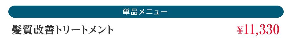 髪質改善トリートメント ¥11,000